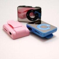 Portátil Digital TF tarjeta espejo Mini impermeable deportes música C botón MP3 Player Clip|Reproductor de MP3|Productos electrónicos -
