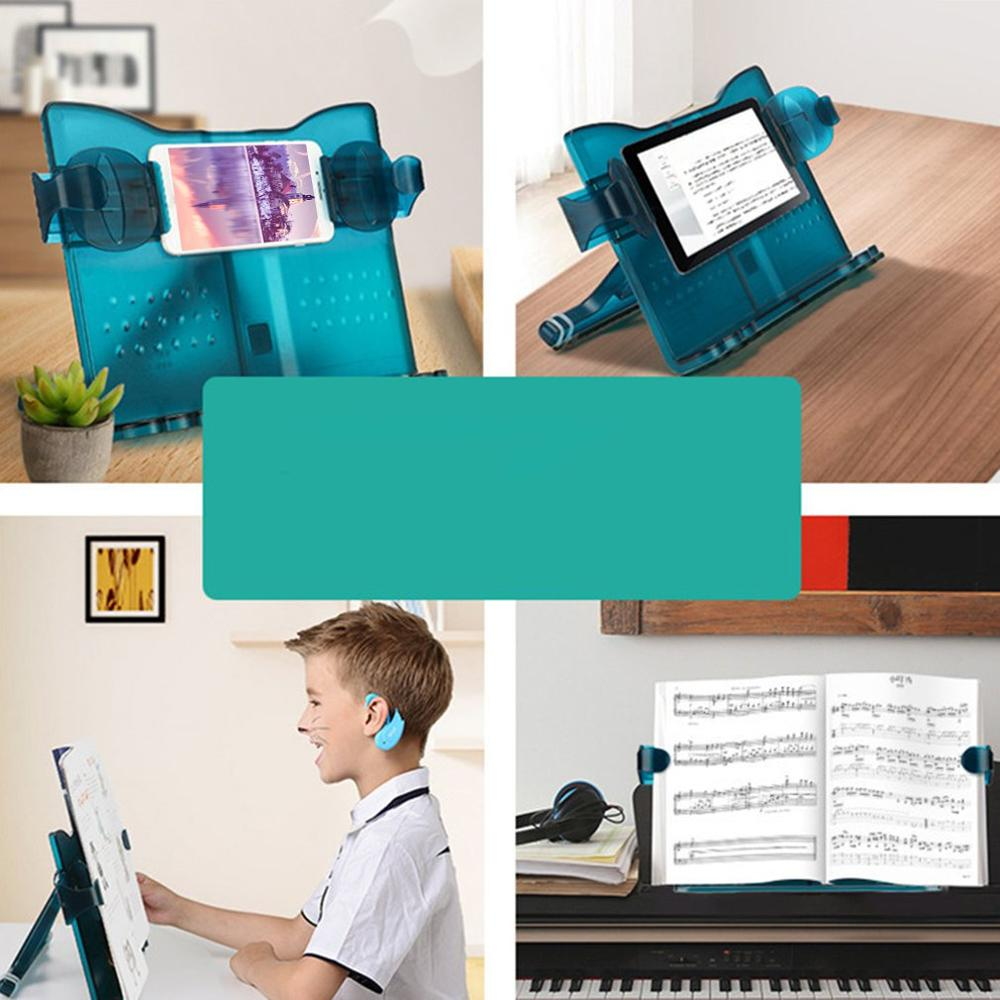 Book Reading Stands Plastic Book Stand Hold 180 Angle Adjustment Cat Type Bookstand Portable Cookbook Holder