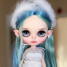 Blyth 1/6 Naakt Doll Joint Body Matte Gezicht Met Tan Dark Natuurlijke Huid Zacht Haar 30Cm Ijzige Neo Bjd speelgoed Gift Diy Met Hand Set A & B
