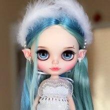 Blythe doll 1/6 çıplak bebek ortak vücut mat yüz tan koyu doğal cilt yumuşak saç 30cm buzlu NEO BJD oyuncak hediye DIY el seti A & B