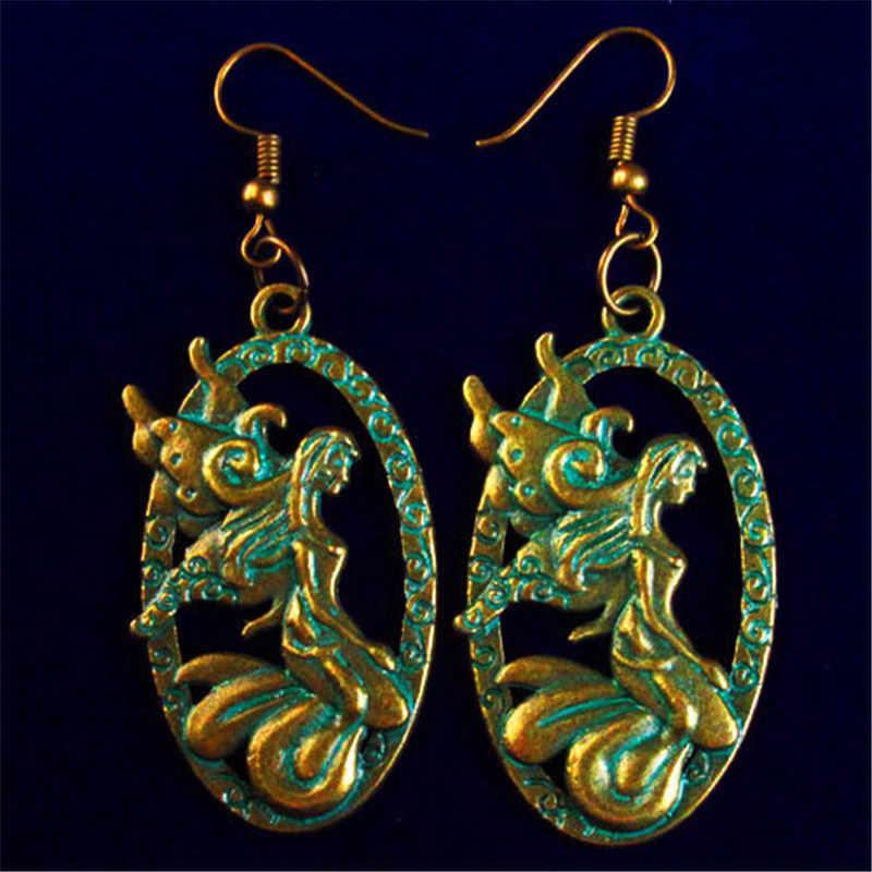 YUTENG ทิเบตเงิน/ทอง/สีเขียวทองเหลืองผสมรูปร่างต่างหู Man/ผู้หญิงแฟชั่นเครื่องประดับหญิงของขวัญ