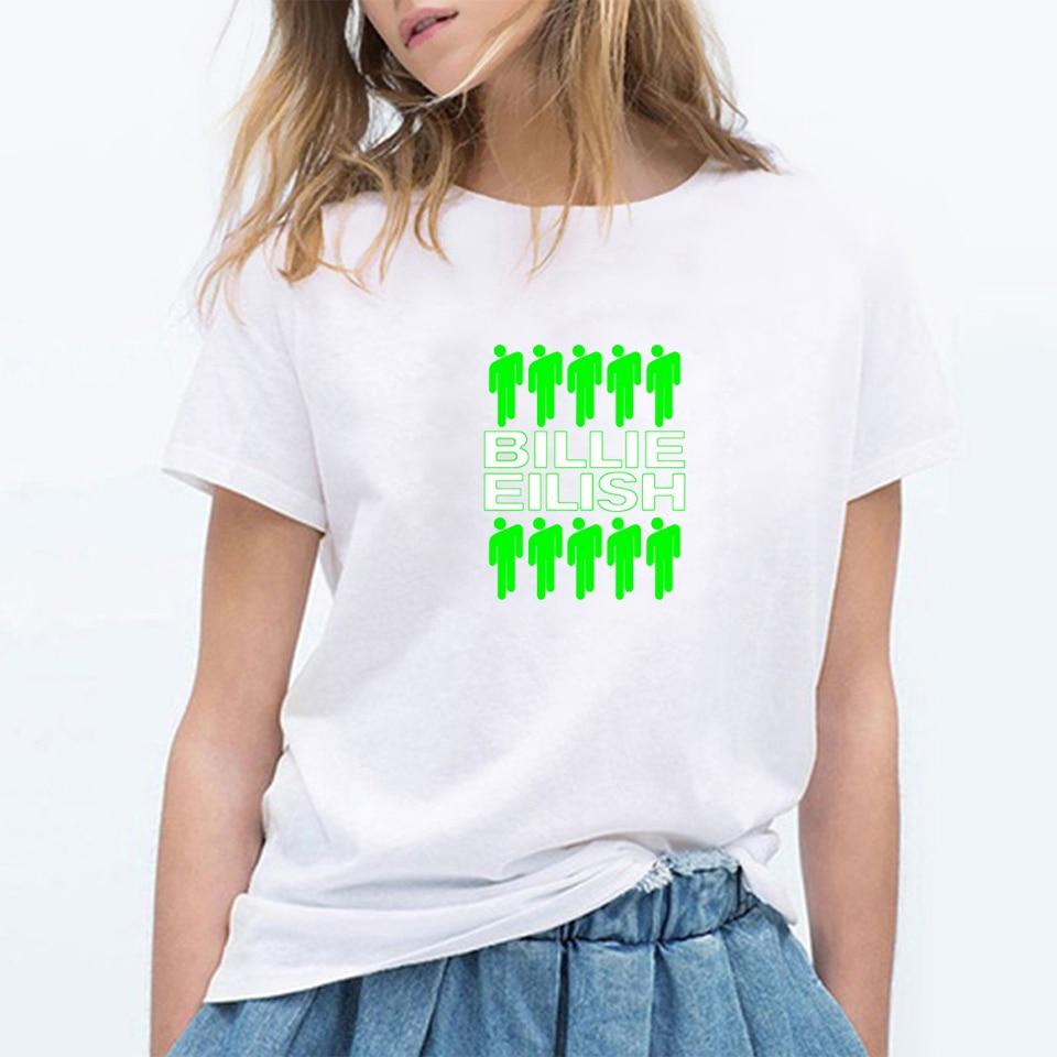 Fashion BILIE EILISH Tshirts Harajuku T Shirt Clothes For Girls Women T-shirt Streetwear Tops Short Sleeve Tshirt O-Neck Shirt