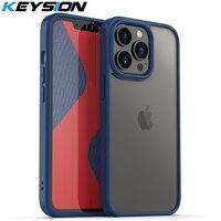KEYSION Fashion custodia trasparente per iPhone 13 13 Pro Max HD Cover posteriore trasparente antiurto per Apple iPhone 13 mini 2021 nuovo