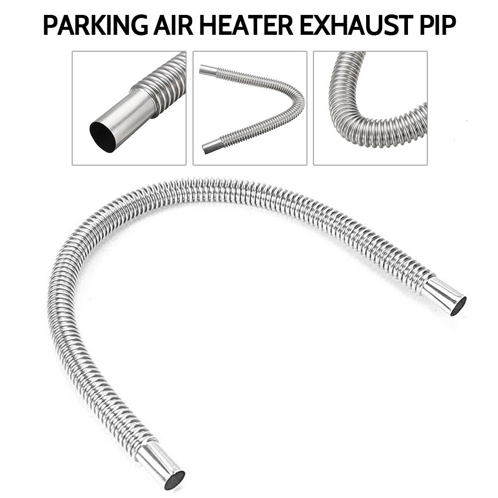 Heater Kit Stainless Steel Pipe Silencer For Parking Air Diesel Heaters pologyase Car Exhaust Muffler With 120cm Exhaust Pipe Car Heater Accessories