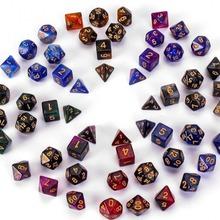 Bicolor Dice D20 Entertainment Board-Game Polyhedral D12 D10 Resin D8 D6 D4 for Starry-Sky