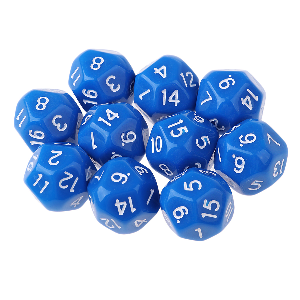 20 Lot Dice Set for Dungeons and Dragons RPG Dice Gaming D&D Math Teaching,D16 Blue,Red