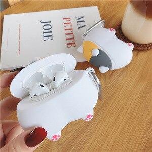 Image 5 - Pour Apple AirPods 3D dessin animé mignon Sexy cochon cul Earpods étui pour Airpods 2 chien chiot Shiba Inu chat Corgi bout à bout écouteur couverture