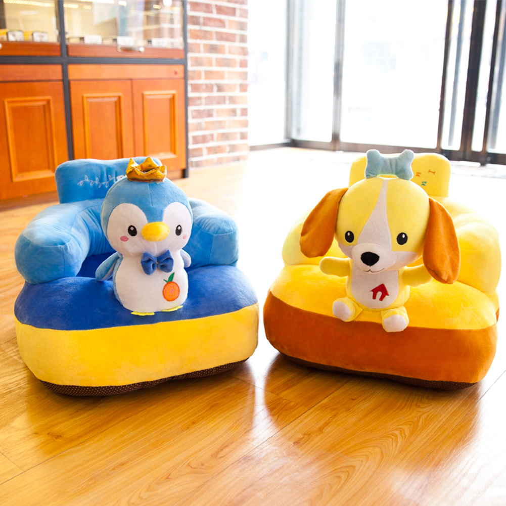 Baby Sofa Seat With Cotton Filler Support Sofa Anti-fall Infant Plush Chair Learning To Sit Toys Kids Infant Toddler Nest Puff