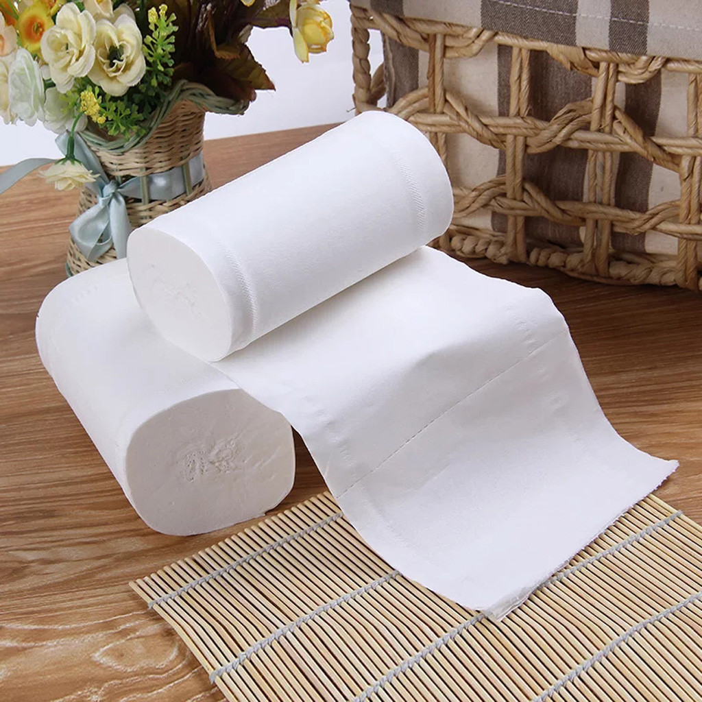Toilet Paper 12PC Paper Towels Soft Toilet Paper Household Paper Roll Tissue Paper Soft Toilet Paper For Home, SS Paper Roll Wit