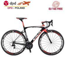 SAVA HERD6 0 rower szosowy wyścigowy węgla T800 pełne włókno węglowe szosowe z SHIMANO 105 R7000 22 prędkości rower szosowy węgla tanie tanio Z włókna węglowego Unisex 21 prędkości 8 5 kg 150 kg 10 kg Nie Amortyzacja Pokój v hamulca 27 5 160-185 cm 0 1 m3