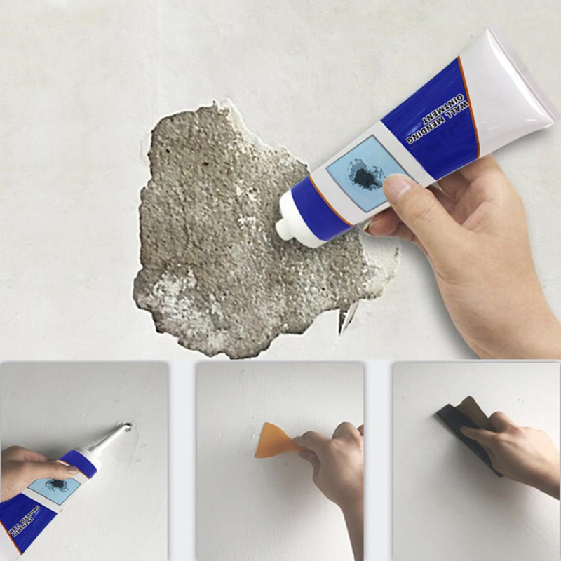 Wall Surface Repair Cream Wall Crack Repair Cream  With Scraper Caulk Sealing Broken Hole Filler Wall Repairing Ointment #