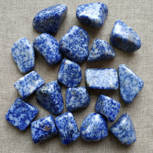 100g natural large blue stone gravel crystal decoration