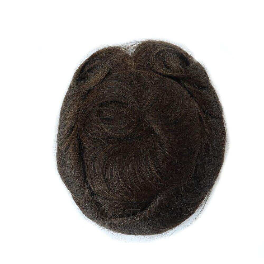 Venta de liquidación Q6 pequeño tamaño hombres tupé Lace & PU hombres tupé peluca