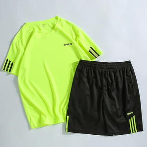 Suit Shorts-Set Half-Sleeved-Clothes Two-Piece Men's Casual Summer T-Shirt Loose Trendy