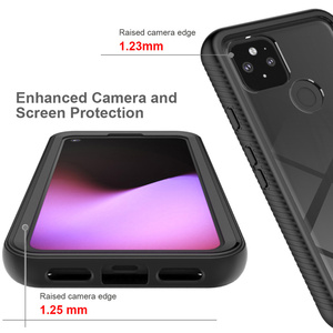 Image 5 - Combo Valweerstand Rugged Case Voor Google Pixel 5 Defender Armor Shield Anti Skid Crystal Clear Cover