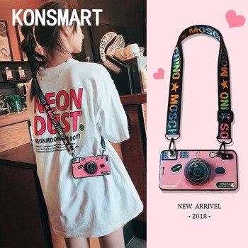 3D Cute Retro Camera Case For Samsung Galaxy J4+ J6+ A6 Plus A8 2018 J7 Pro 2017 A7 2018 Grip Stand Silicon Phone Case Cover