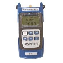 Medidor de potencia óptica de fibra, probador de Cable óptico de fibra 70 ~ + 10dBm o 50 ~ + 26dBm con conector FC SC, envío gratis