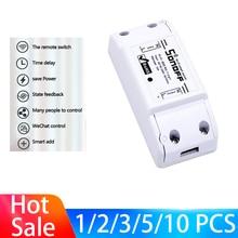1-10 PCS SONOFF Basic Wifi Switch For Alexa Google Home Timer 10A/2200W Wireless Remote Switch