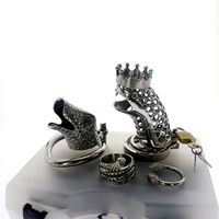 Snake Cock Cage Kits Male Stainless Steel Belt Penis Ring Cock Ring Chastity Cage Penis Rings Chastity Male Sex Toys for Men