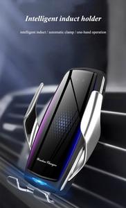Image 5 - 공기 청정기 자동차 무선 충전기 제나라 자동 클램프 빠른 충전 마운트 화웨이 P30Pro Mate30 iphonex11 XR XS MAX X