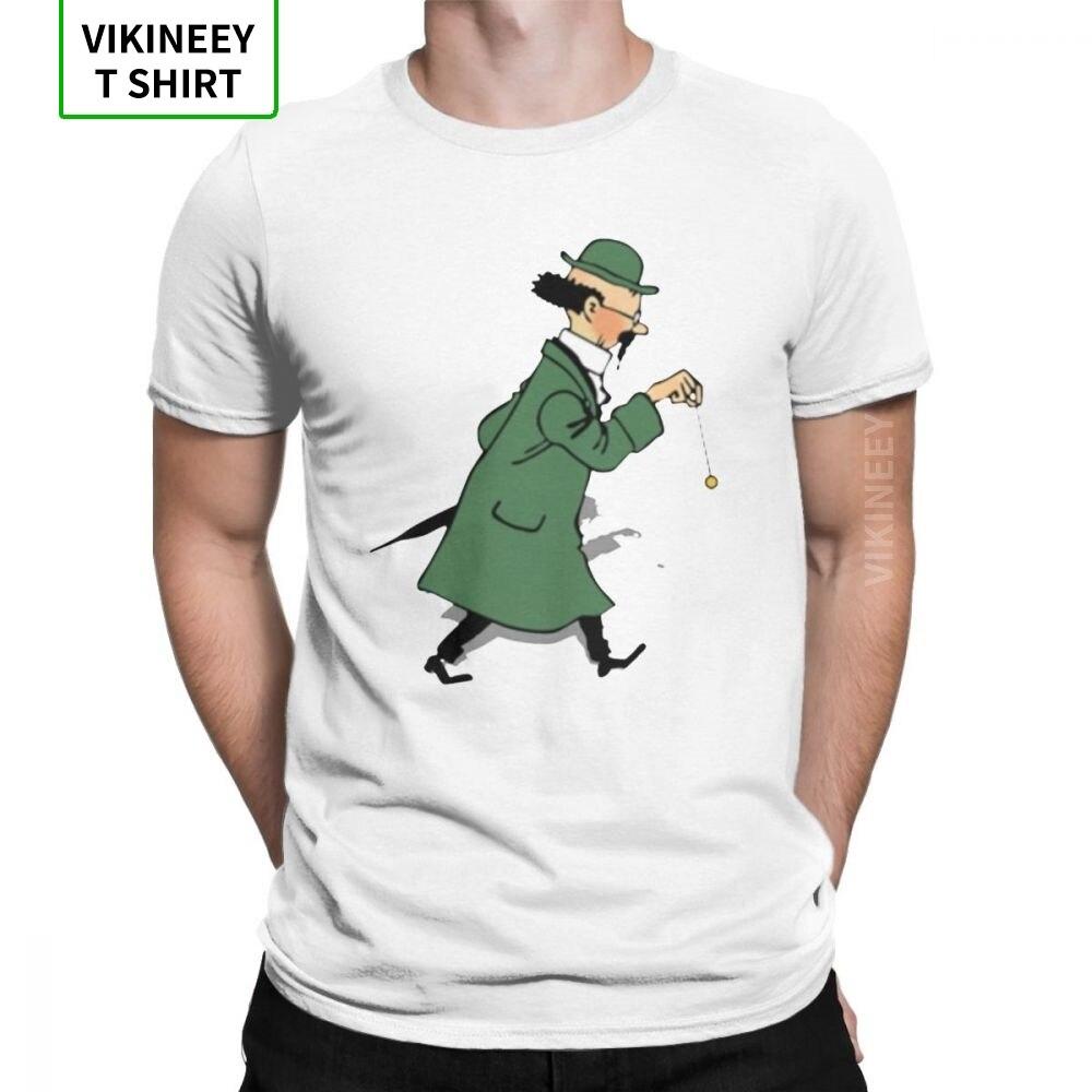 Men's Tintin Professor Calculus T Shirt The Adventures Of Tintin Cotton Clothing Novelty Short Sleeve Tee New Arrival T-Shirt
