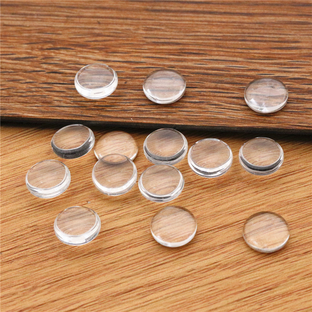 50pcs/lot 10MM Round Flat Back Clear Glass Cabochon, High Quality, Lose Money Promotion!!!(Z2-02)