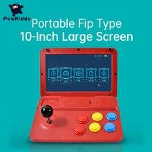 POWKIDDY A13 10 дюймов игровой джойстик с двумя джойстиками аркадная A7 архитектура Quad-Core Процессор симулятор игровая консоль чехол для телефона в ...