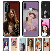 Funda de teléfono para Huawei P30, P40 Lite, E P Smart Z, P20 Pro, Y6p, Y6, Y7, Y9, 2019, color negro, suave, Lana Del Rey