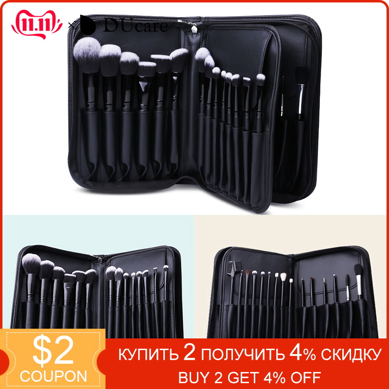 DUcare Cosmetic Bag Makeup Brush Case Travel Pouch Professional Beauty Container Storage Big Organizer