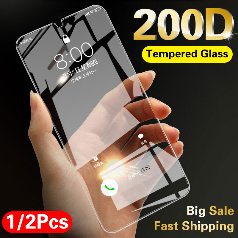 200D Full Cover Tempered Glass On For Samsung Galaxy A51 A50 A71 A70 A80 A10 A5 A7 2018 A750 Transparent Screen Protector Glass