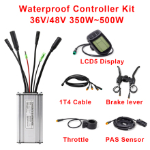Ebike Controller 36V 48V 350W 500W e-bike Controller with Throttle Brake PAS Sensor LCD Display Ebike waterproof Conversion Kit