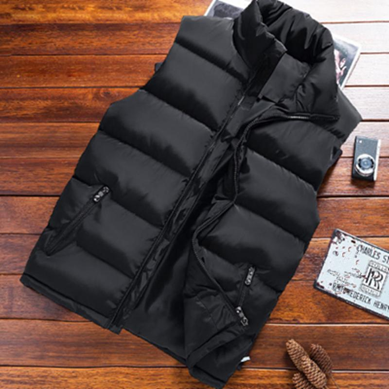 MULTICOLOR Men Cotton Down Puffer Gilet Vest Body Warmer Waistcoat Padded Outwear Jacket