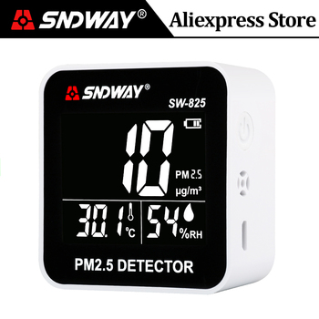 SNDWAY Laser PM2.5 Detector Digital Air Quality Monitor Tester w/ Alarm Gas Analyzer Temperature humidity meter Diagnostic Tool