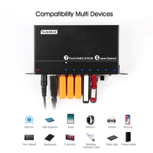 Image 4 - 2019 NEW arrival model 7 port USB 3.0 super speed hub with smart charging port from Sipolar Manufacturers