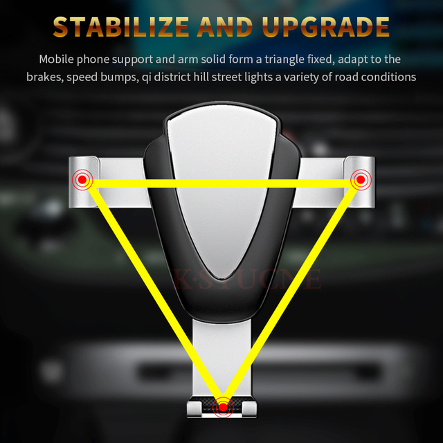 Gravity Car Phone Holder Air Vent Mount Universal Mobile Smartphone Holder For Phone In Car Support For Samsung S10 S9 1