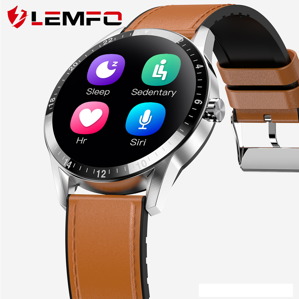 LEMFO Smart Watch Full Round Touch Screen Bluetooth Calls Men Women Heart Rate Health Sprots Tracker Smart Watch IOS Android(China)