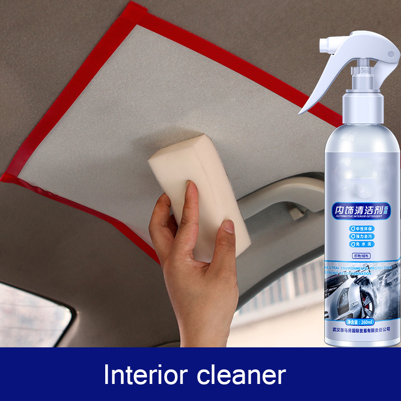Car Interior Cleaning Agent Ceiling Polishing Cleaner Home Flannel Woven Cleaning Agent Decontamination Cleaning Tool