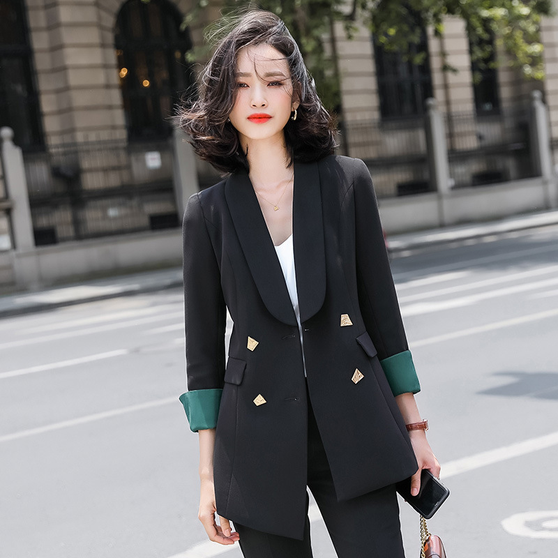Professional women's office pants skirt two-piece suit High quality new autumn and winter slim fit jacket High waist skirt
