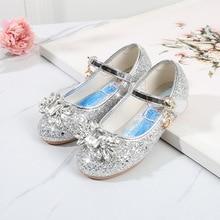 Disney Frozen Crystal Shoes For Baby Girls Children's Dance non slip Princess Shoes Cartoon Elsa Shoes Girls Sandals