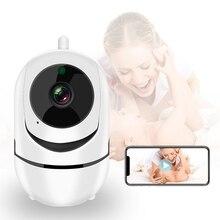 1080P Видеоняни и радионяни с Камера FHD Ночное видение двухстороннее аудио Автоматическая отслеживающая Детские спальные няня Камера Wi-Fi дома...