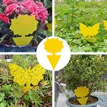 Armadilha poderosa e barata da mosca do jardim, placa pegajosa do bug, armadilha pegajosa dobro-face, armadilha do inseto da planta do vôo, ferramenta de jardinagem