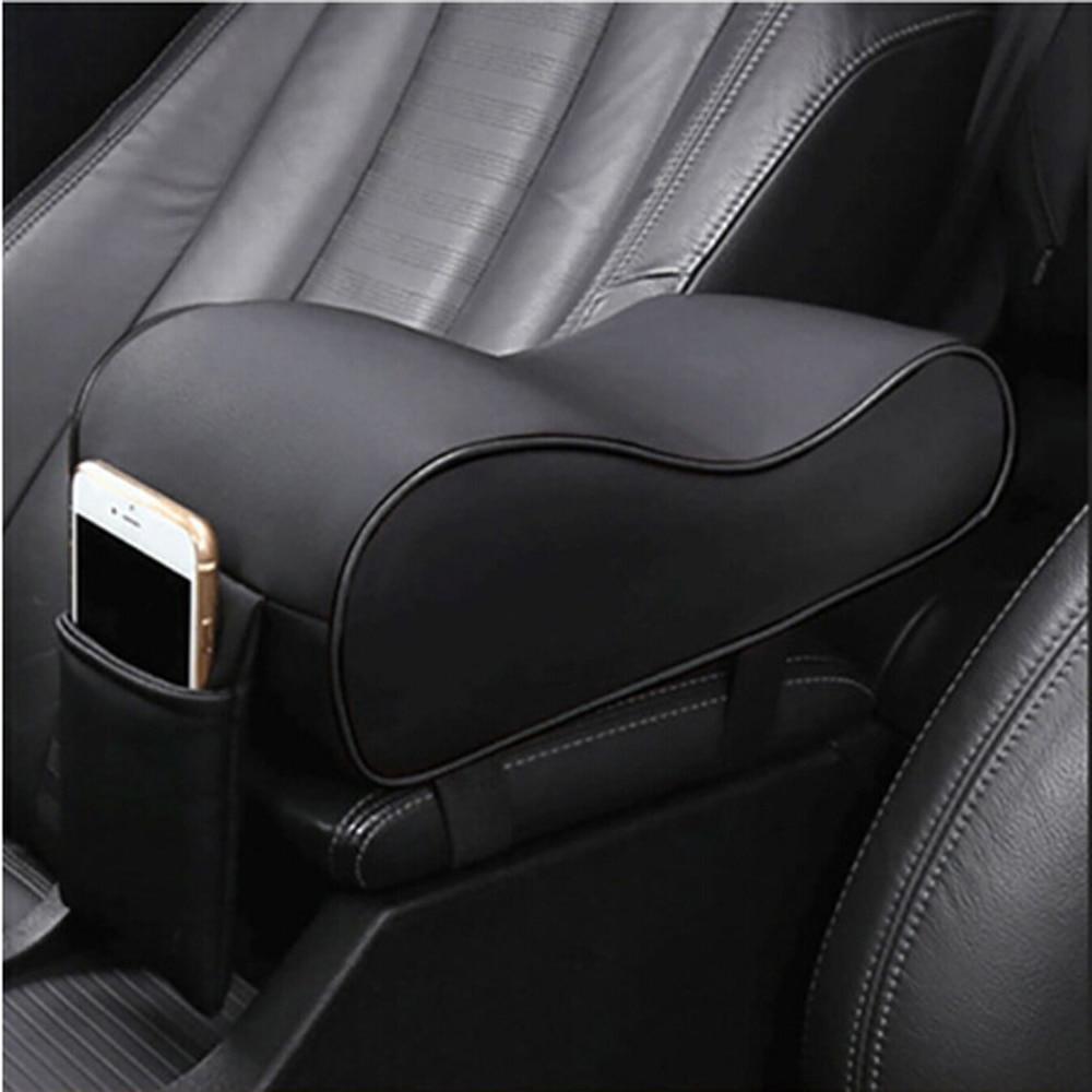 2019 novo couro caixa de apoio braço do carro forma almofada para ssangyong presidente rexton kyron rodius actyon korando tivolan|Adesivos para carro|   -