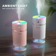 Humidificador pequeño con luz nocturna colorida, minihumidificador que facilita tu vida en casa, alimentado por microusb, mejora el ambiente de tu hogar