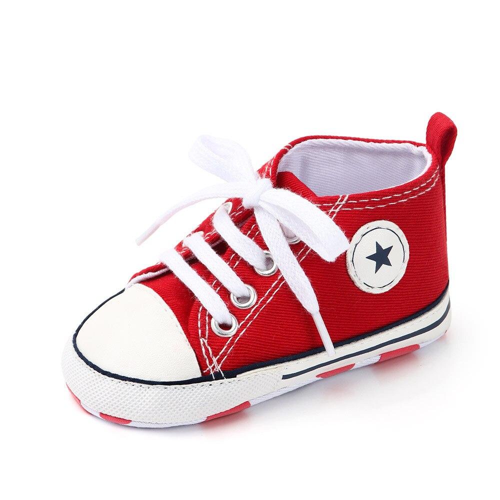 Chaussures bébé Garçon Fille Solide Sneaker Coton Doux Semelle Antidérapante Nouveau-Né Infantile Premiers Marcheurs Bambin décontracté Sport Chaussures de Berceau 27
