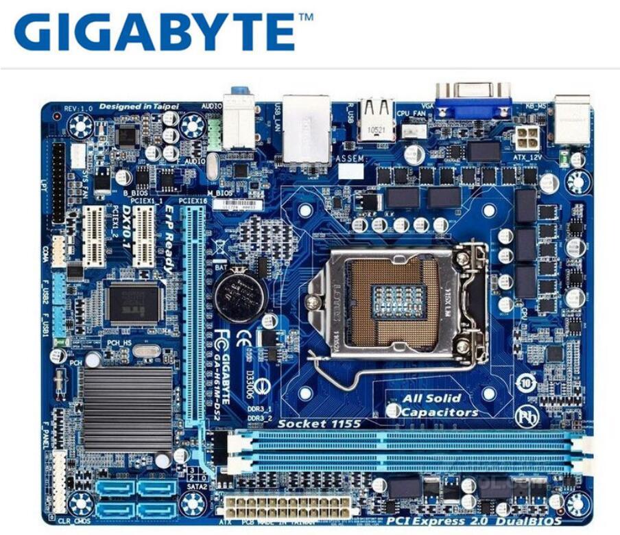 2474.11руб. 18% СКИДКА|Материнская плата Gigabyte GA H61M DS2|desktop motherboard|motherboard motherboard|motherboard desktop - AliExpress