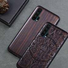 Boogic oryginalna dla Huawei Honor 20 Honor 20 Pro czarny heban pokrywa drewniana dla Huawei Honor 20 Honor20 Pro ochronna, przypadku
