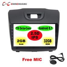 2.5D IPS pantalla Octa Core Android 8,1 reproductor de DVD del coche para Chevrolet Colorado pionero S10 Isuzu D-max MU-X unidad de cabeza de Radio GPS