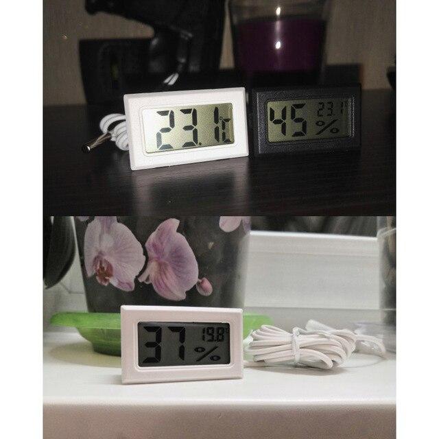Mini Digital Humidity Meter Thermometer Hygrometer Sensor Gauge LCD Temperature Refrigerator Aquarium Monitoring Display Indoor 6