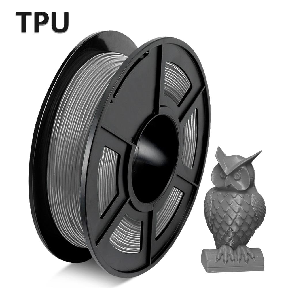 Flexible 3D Printer Filament red desiccant TPU Flexible plastic filament 1.75mm 0.5KG for 3d printer