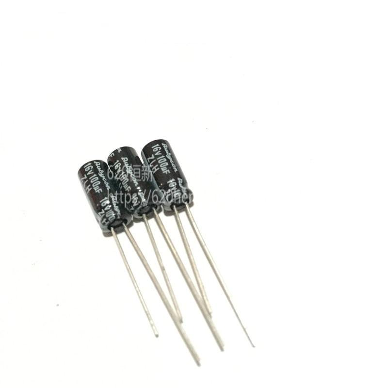 100PCS NEW Japan RUBYCON ZLH 16V100UF 5X11MM High Frequency Low Resistance 100UF 16V 100UF/16V